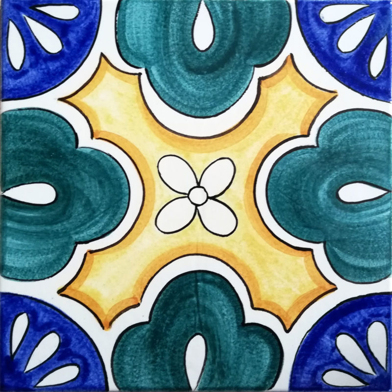 mattonella siciliana decorata a mano