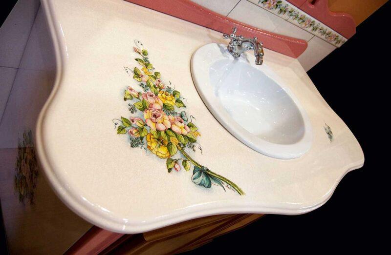 mobile bagno classico realizzato su misura