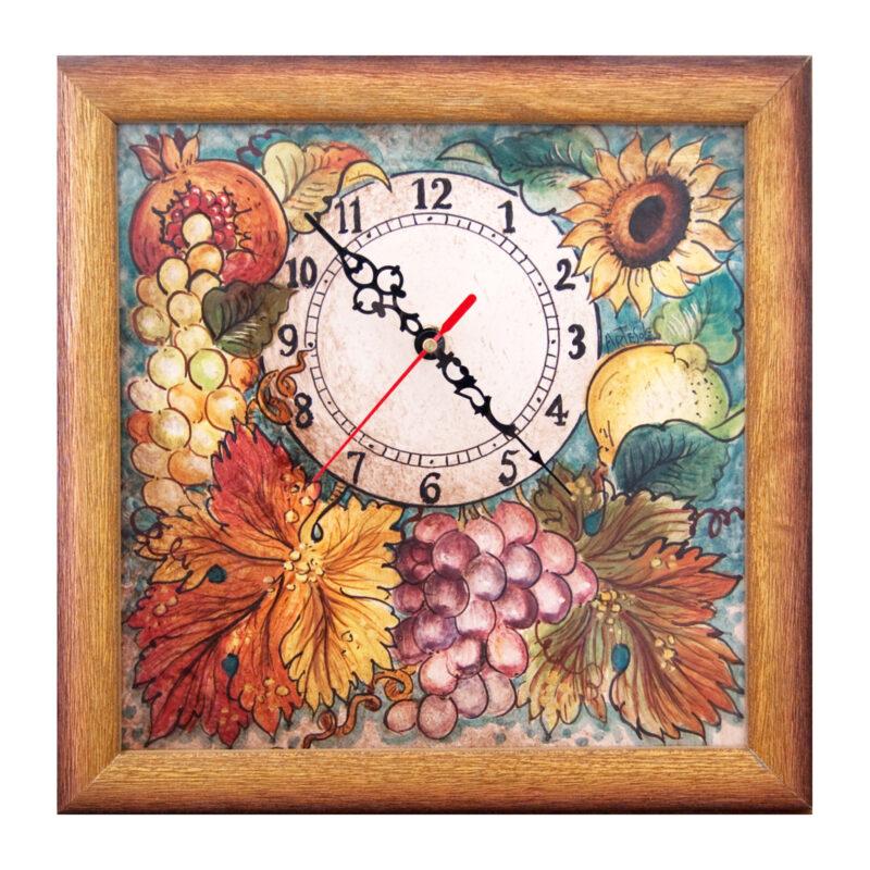 Orologio antichizzato dipinto a mano