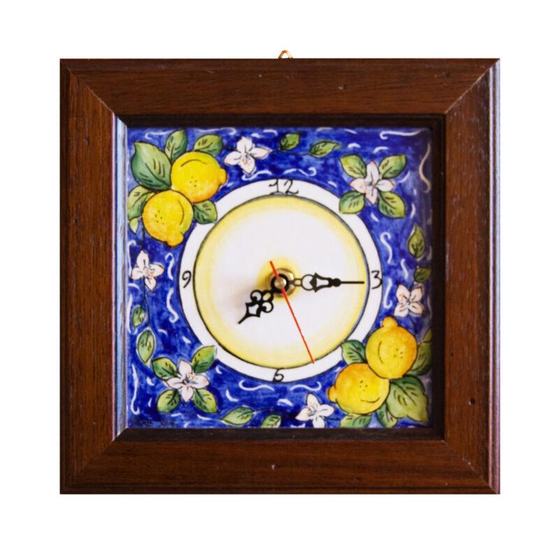 Orologio con decorazione limoni decorati a mano