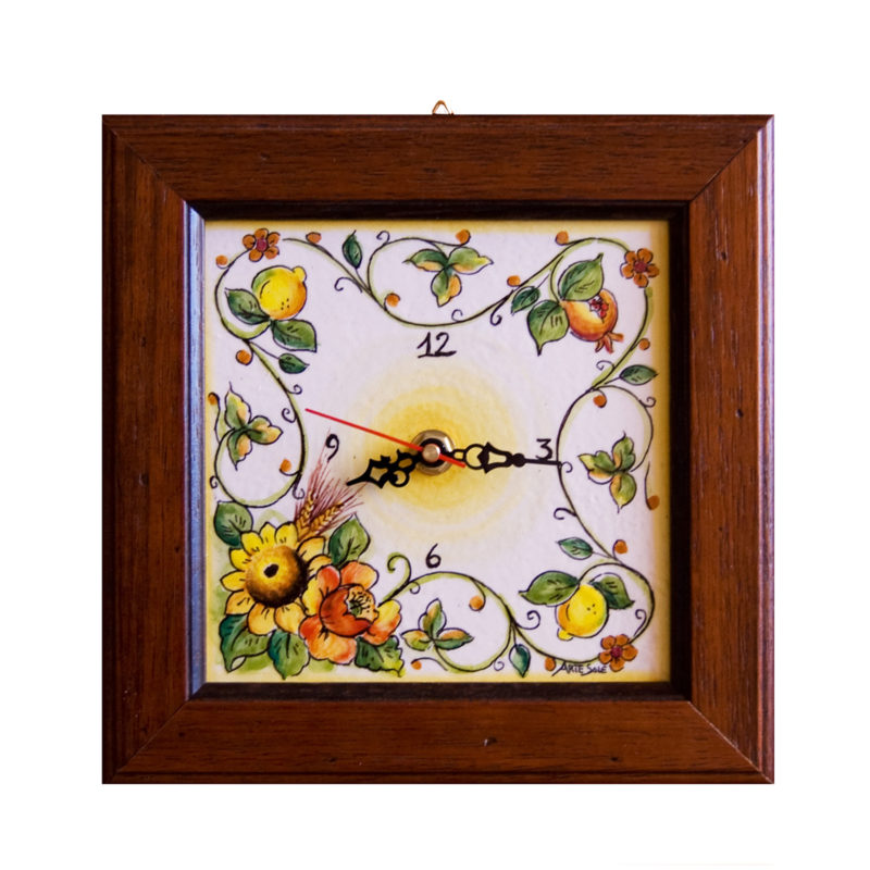 Orologio da parete personalizzabile dipinto a mano