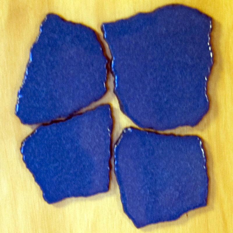 Palladiane in pietra lavica smaltata effetto blu vetrificato