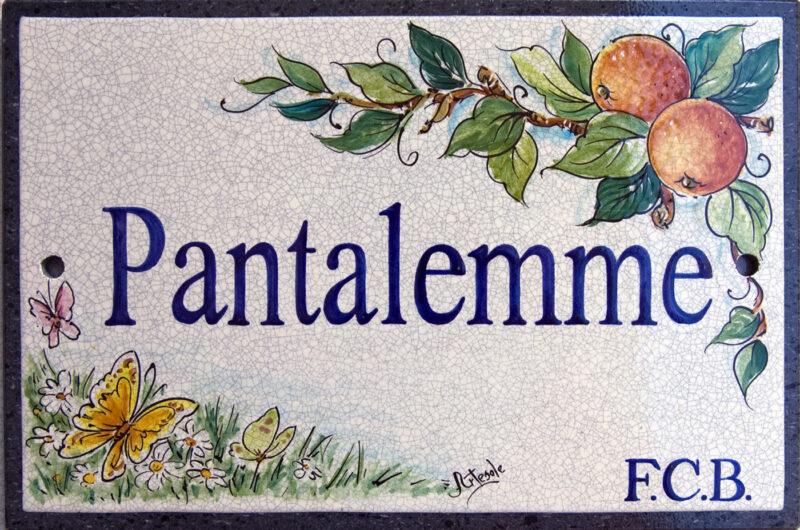 Pantalemme - Targa personalizzata su pietra lavica dell'Etna