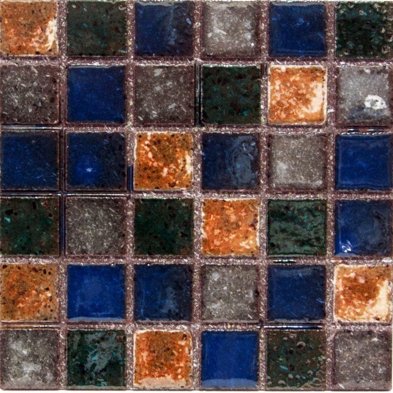 Piastrella mosaico in pietra lavica con colori trasparenti per rivestimenti