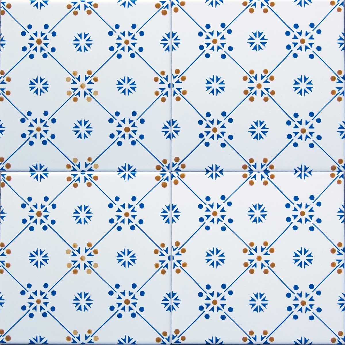 Piastrelle Decorative Per Tavoli composizione di mattonelle decorate a mano mod n8a8 | artesole