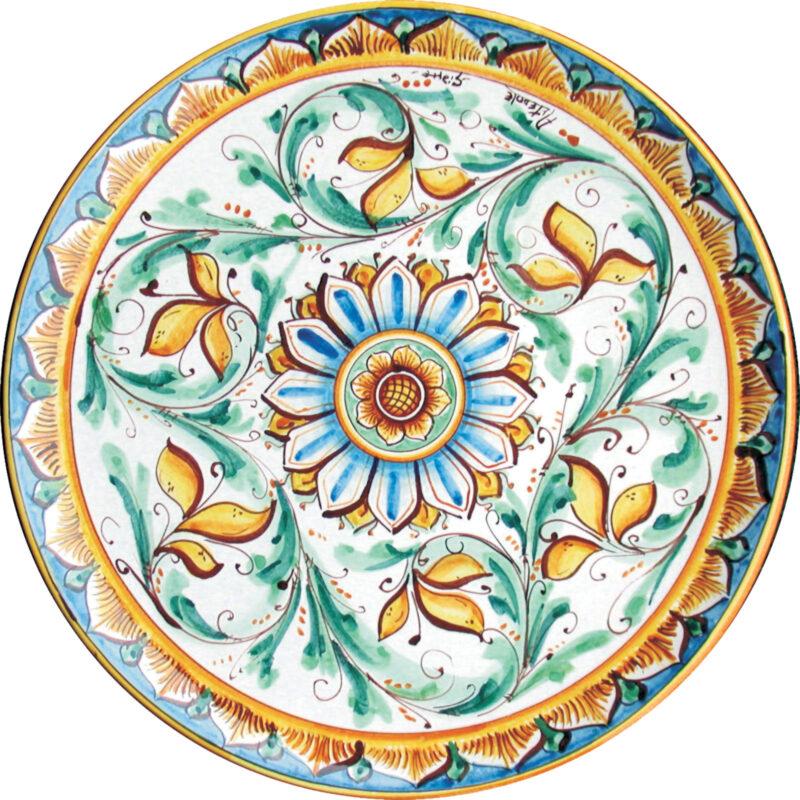 Piatto artistico da portata decorato a mano