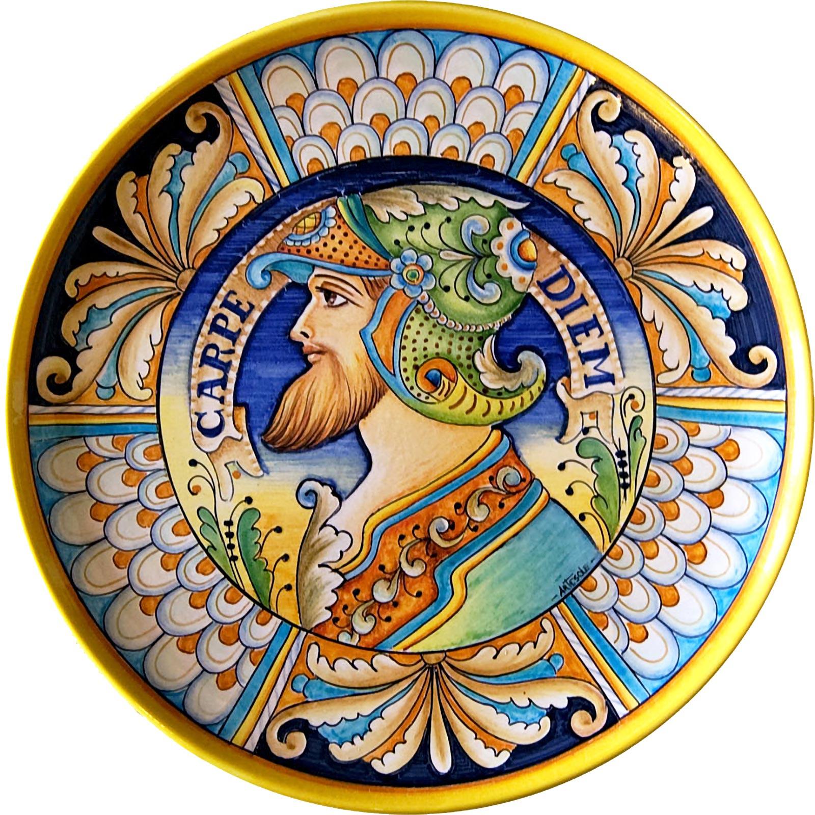 Come Appendere Piatti In Ceramica piatto da appendere in ceramica decorata a mano con decoro