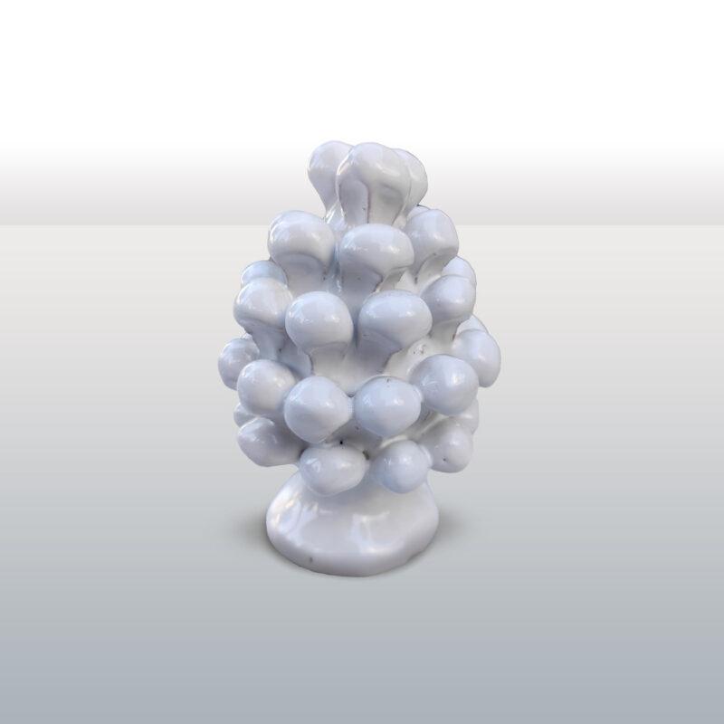 Pigna in ceramica monocolore bianca