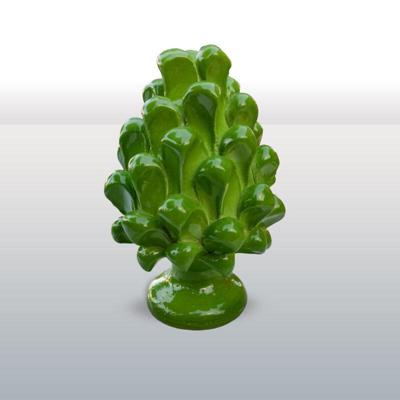 Pigna in ceramica monocolore verde altezza 16