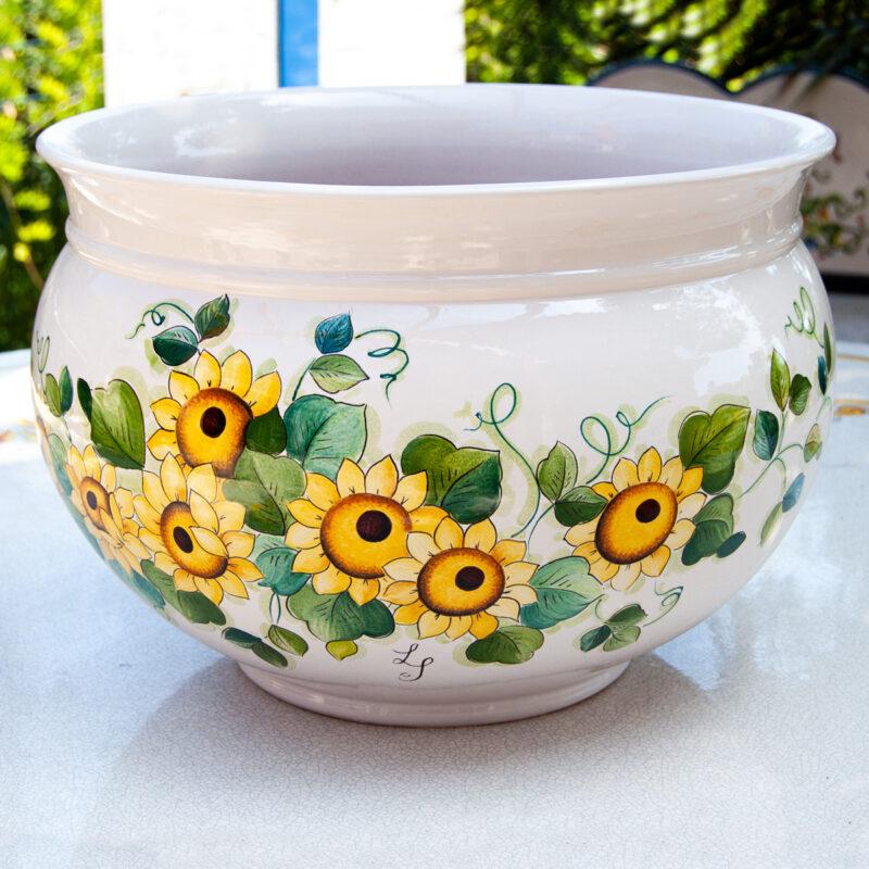 Portavaso in Ceramica di Caltagirone