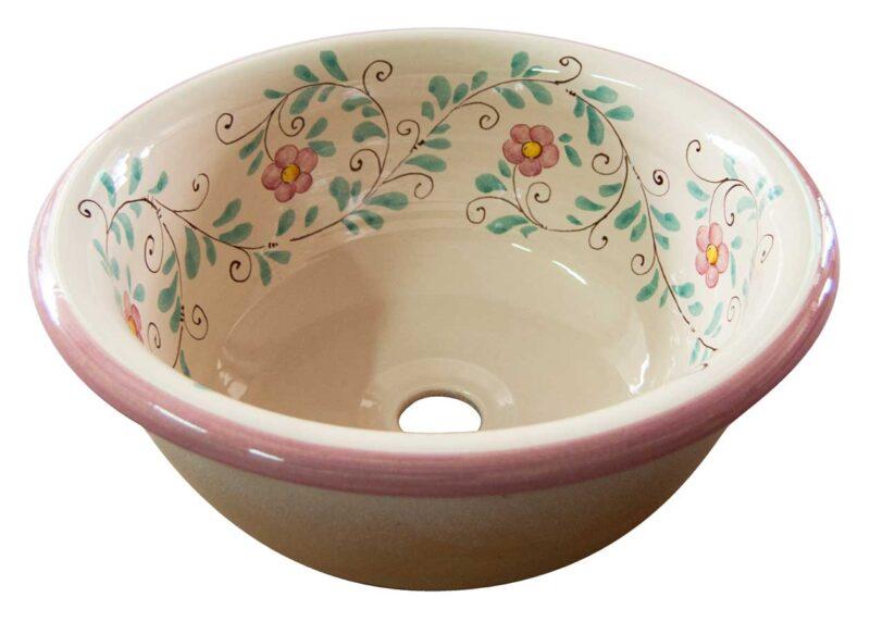 pozzetto in ceramica decorato a mano