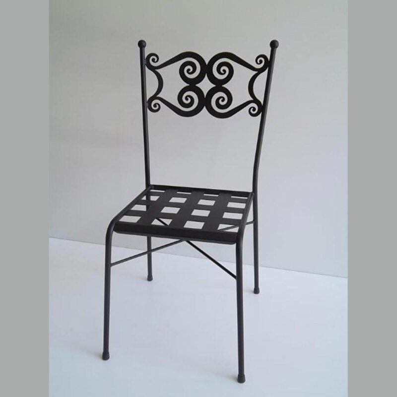 Sedia in ferro battuto da esterno