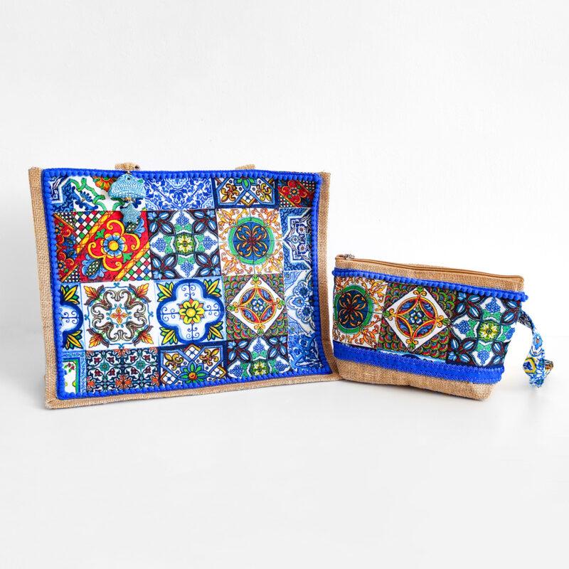 set borsa siciliana decori mattonelle