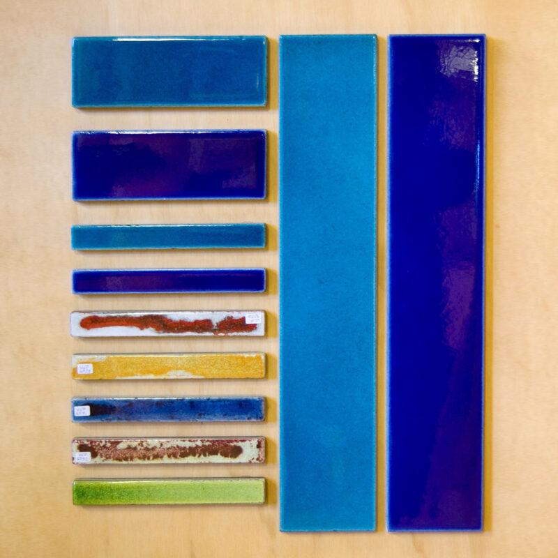 fasce in pietra lavica colori assortiti effetto vetro