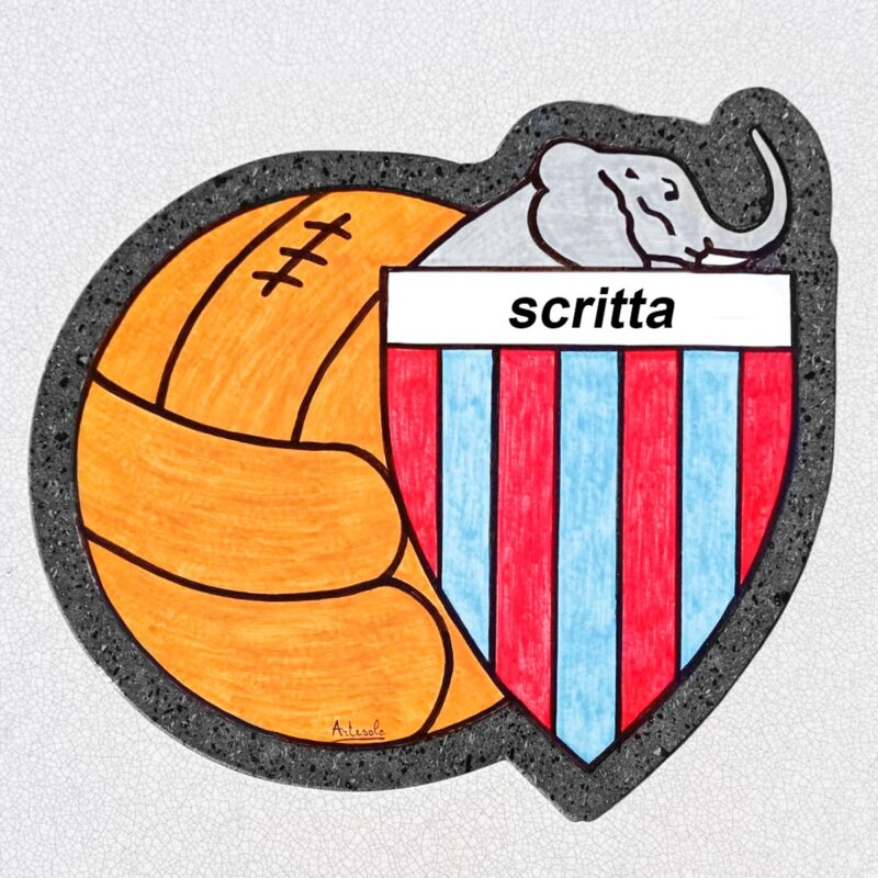 Targa Personalizzata in pietra lavica forma scudetto
