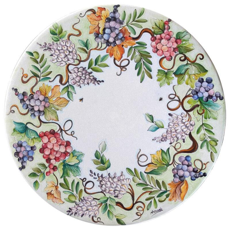 tavolo ceramica pietra lavica sicilia