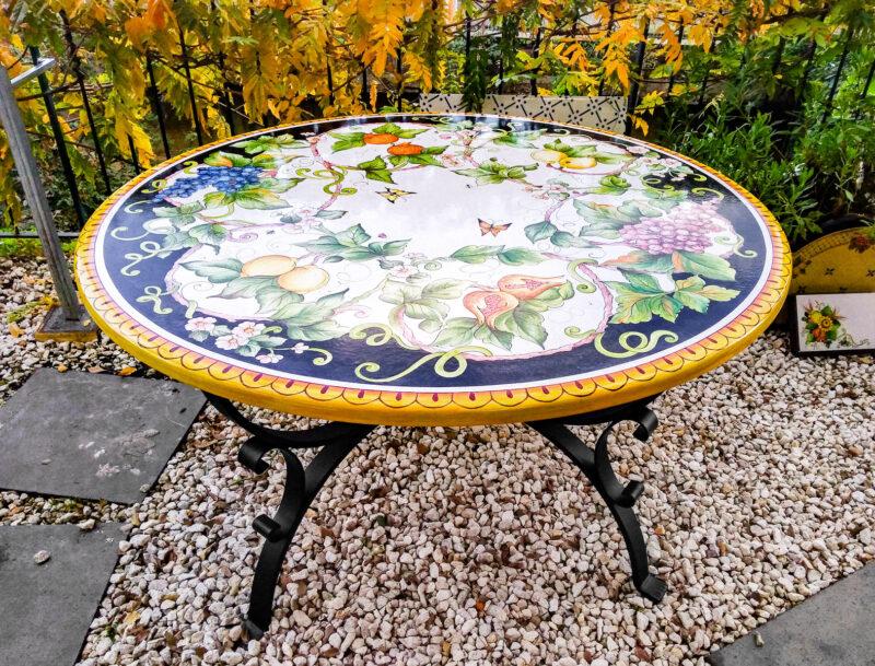Tavolo da Giardino in Pietra Lavica