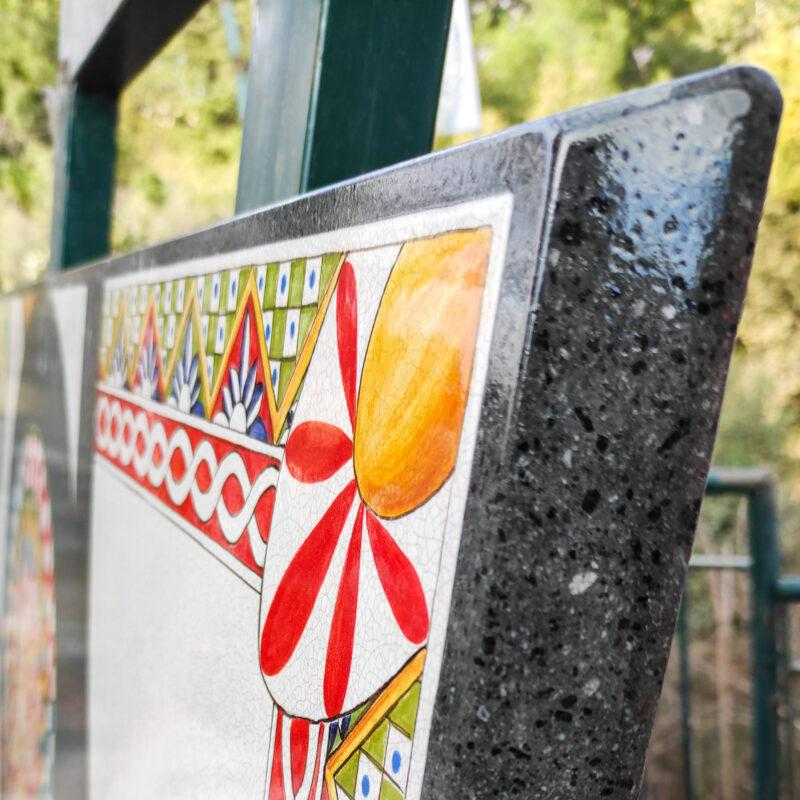 Bordo Tavolo in pietra lavica edizione limitata
