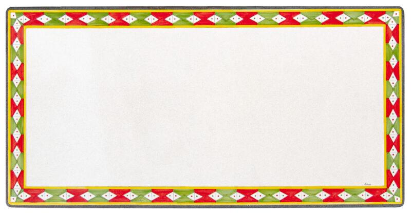 Tavolo in ceramica - pietra lavica decorato a mano