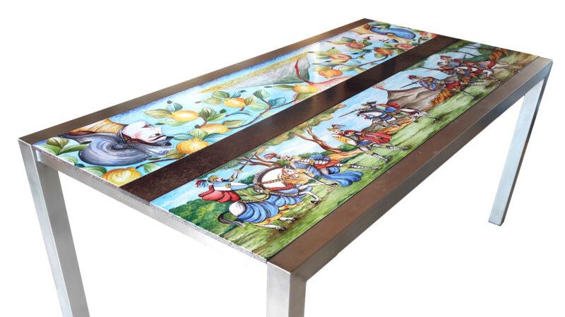 Tavolo moderno in pietra lavica