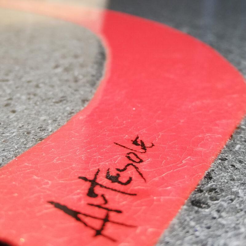 tavolo in pietra lavica moderno firmato Artesole