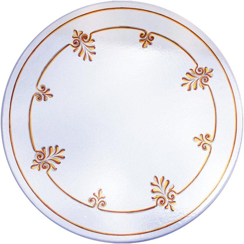 tavolo in pietra lavica con decoro classico