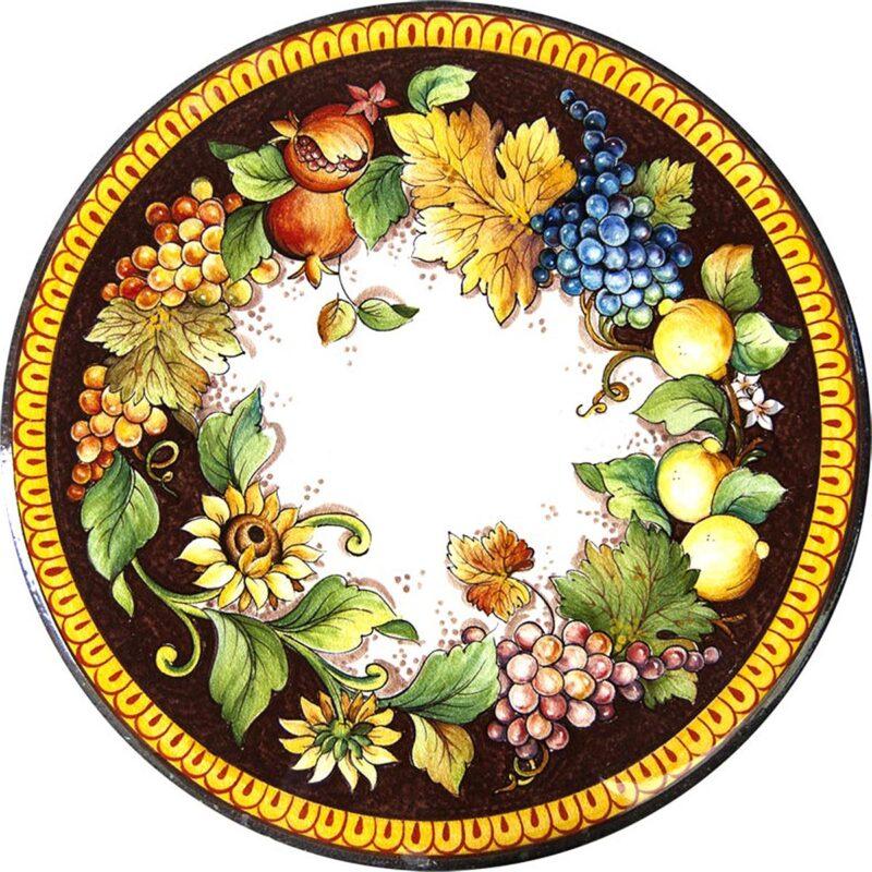 Tavolo in Pietra Lavica Decoro Autunno
