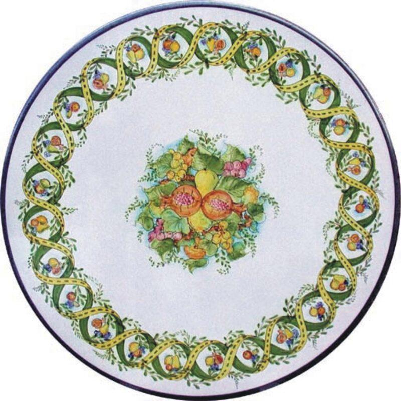 Tavolo in Pietra Lavica decoro Vortice