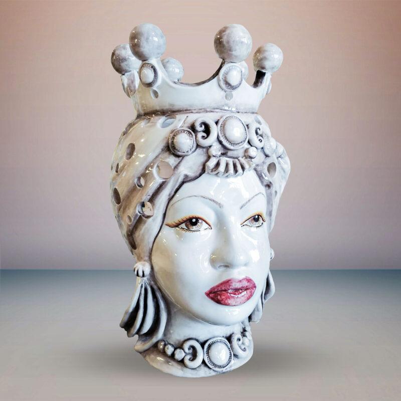 Testa di Moro Donna con corona decorata a mano