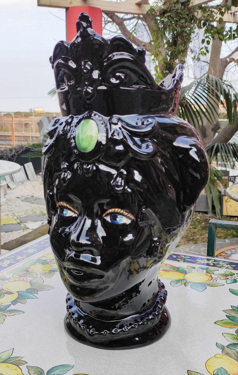 Testa di Moro monocolore nera lucida