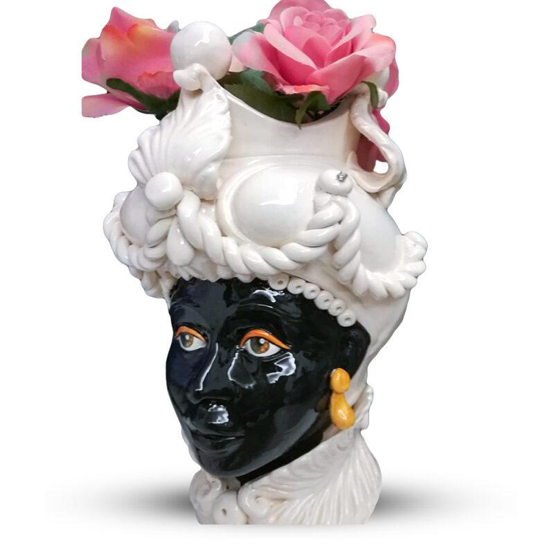 Testa di Moro Donna realizzata in ceramica