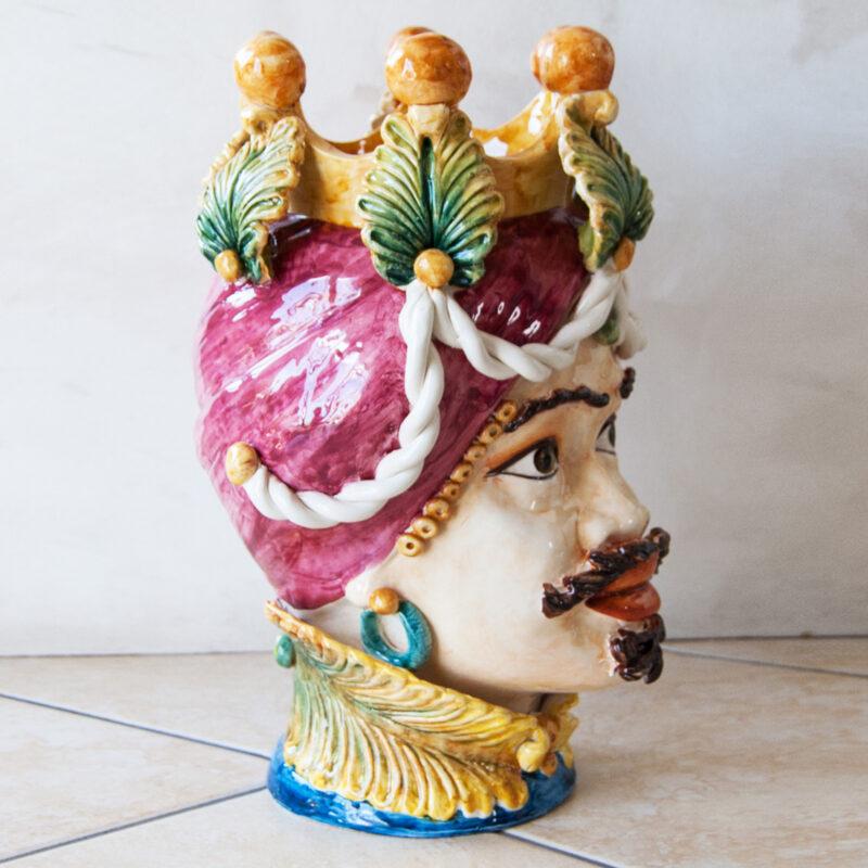 testa di moro uomo decorata a mano